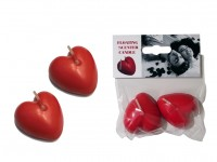 Floating Scented Heart Candle - 2 pieces