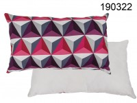 Cushion with Geometric Pattern